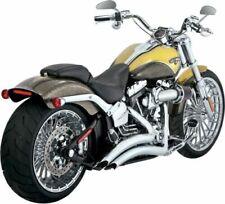 Sistemas completos de escape de color cromo de acero para motos