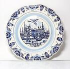 Plaque De Collection Assiette Murale Delfts Bleu Paysage Urbain Düsseldorf Anno