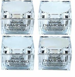 Shahnaz Husain Diamond Lotion,Mask,Scrub,Cream Age Control Formula Facial Kit