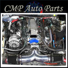 BLUE-BLACK 1994-1996 CADILLAC FLEETWOOD 5.7L V8 ENGINE DUAL AIR INTAKE KIT