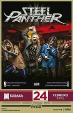 STEEL PANTHER 2016 MEXICO CITY CONCERT TOUR POSTER- Comedy Rock,Glam Metal Music
