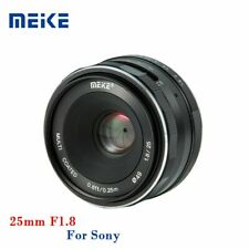 Meike 25mm F1.8 Manual Fix Focus Length APS-C Camera Prime Lens For Sony E Mount