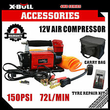 150PSI 72L Air Compressor 4WD Car Tyre Inflator Portable Kit Pressure Pump 12V