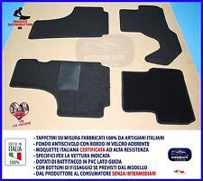 Tappetini Moquette Auto per Fiat Vecchia 500 Epoca Velcro Antiscivolo NO LOGO