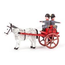 Feuerwehr Gespann Haspel-Gerätewagen NEU Erzgebirge Volkskunst Miniatur Pferd