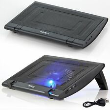 Frisby Adjustable Quiet Cooling Fan Pad LED USB Powered Laptop Notebook Netbook