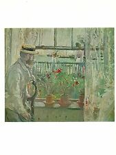 """1977 Vintage IMPRESSIONISM """"EUGENE MANET ON THE ISLE OF WIGHT MORISOT Lithograph"""