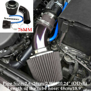 Car SUV Cold Air Intake Filter Induction Pipe Power Flow Hose System Universal