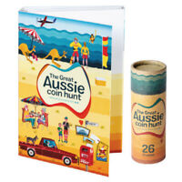 2019 Great Aussie Coin Hunt Alphabet A -Z folder + 26 $1 unc coins in coin tube