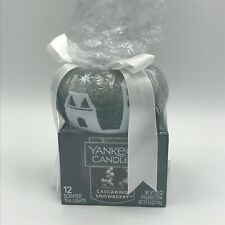 Yankee Candle Cascading Snowberry Tealights and Holder Set