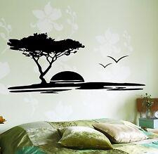 Wall Decal Tree Birds Sun Romantic Vinyl Sticker (z3628)