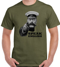Speak English T-Shirt Lord Kitchener Mens Funny Immigration Brexit Labour Top