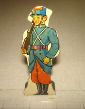 Vintage 1930s MARX TIN LITHO SOLDIER TARGET - FRENCH INFANTRY 15 pts