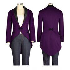 ChicStar Purple Victorian Steampunk Tailcoat Tuxedo Style Jacket UK Size 6 to 28