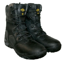 MENS LEATHER WATERPROOF ,LACE UP, POLICE ARMY, WORK BOOT, BLACK SIZE 8