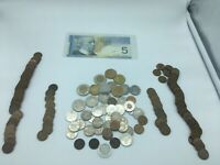 Large Lot of Canada and USA Coins Canadian Coin Collection + Banknote 8273