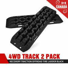 2Pcs Recovery Traction Mat Offroad Black Tracks Sand Snow Tire Ladder 4WD Track