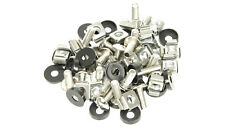 """50 PACK M6 CAGE NUTS BOLTS WASHERS FOR 19"""" RACK MOUNT CABINETS 15mm THREAD"""