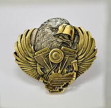 MOTO Hebilla de cinturón águila Águila MOTO motor-motiv Hebilla 098 oro