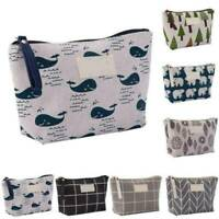 Travel Cosmetic Makeup Bag Organizer Storage Bag Canvas Toiletry Case Wash Pouch