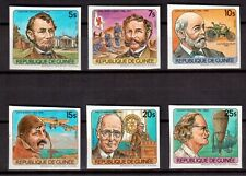 GUINEA 1984 MINT NH SET # 890/95 IMPERF, ANNIVERSARIES & EVENTS !!