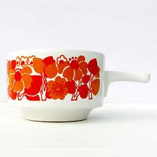 Vintage Retro 1970s Orange Staffordshire Potteries Ltd Soup Mug Bowl