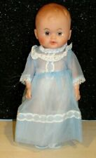 """Vintage 1960s Baby Doll Unmarked Boy/Girl Doll Drink/Wet 11""""  SHEAR DRESSED EUC"""