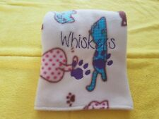 Handmade personalised embroidered kitten/cat blanket/bed