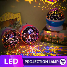 Starlight Crescent Moon Stars Galaxy Projector Sky Night Light Constellation LED Purple
