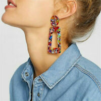 Mottled Acrylic Dangle Drop Statement Earrings for Women Fashion Resin Jewelry