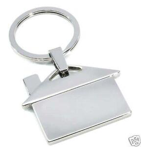 Metall-Schlüsselanhänger Haus im Geschenkkarton Wohnung