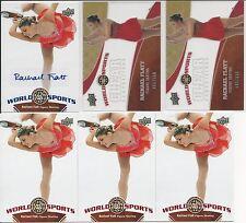 Rachael Flatt 6 Card Lot 2010 Upper Deck World Of Sports Autographs # 211