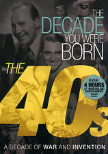The 40's: The Decade You Were Born:1940s (DVD) A Decade of War and Invention NEW