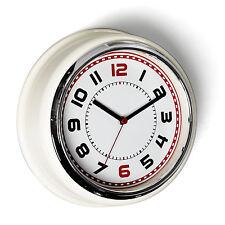 dotcomgiftshop CREAM RETRO STYLE DINER WALL CLOCK
