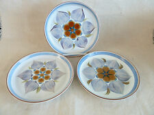 """Chatsworth by Denby Langley  England  3 Bread & Butter Plates   6 3/4"""""""
