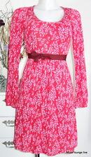 Vive Maria Kleid Dress Winterflowers 36 S red rot Blumen Modal Tunika 29822