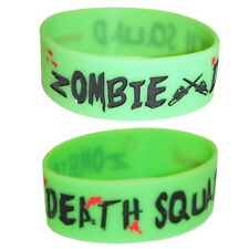 Cosmic Zombie Death Squad Chainsaw Splatter Horror Wristband Rubber Wristcuff