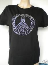 """L 3X M XL 2X Women/'s Rhinestone T-Shirt  /"""" Pink Zebra Cross /"""" in S"""