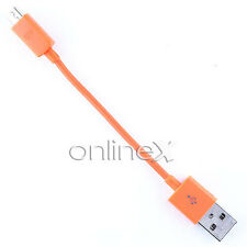 Cable Micro USB a USB 10cm NARANJA para HTC One Mini a830