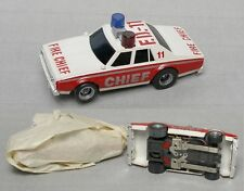 1979 Aurora AFX MT Overhead Slot Car Chevy Caprice Fire Chief FD-11 Unused! 3A+