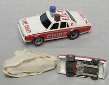 1979 Aurora AFX MT Overhead Slot Car Chevy Caprice Fire Chief FD-11 Unused! 3A+