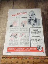 Vintage Federal Cartridge Co. Paper Advertising, Ammunition, Hunting ,