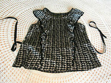 Silky party top in black and beige dog tooth check by BETTY JACKSON BLACK 20