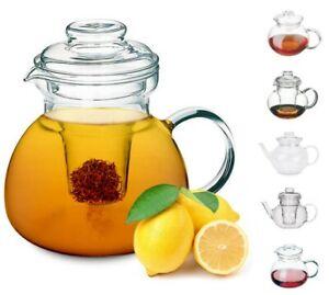 Teekanne Glas mit Sieb Kaffeekanne Teebereiter Glaskanne Neu 1 / 1,5 l SIMAX