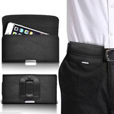 Horizontal Clip Ceinture étui de poche Haut à rabat pour téléPhone Support✔Noir