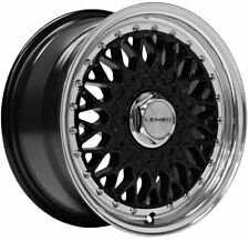 "15"" BLACK BSX ALLOY WHEELS FOR 5X100 SEAT ARONA CORDOBA IBIZA LEON TOLEDO"