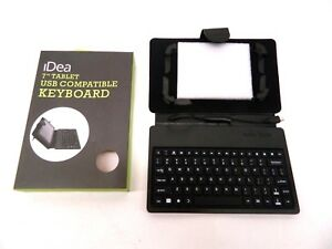 iDeaUSA Keyboard And Cover Case for 7-inch Tablet Micro USB Cable Black Wired