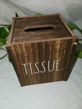 Rae Dunn LL TISSUE Wooden Box White letters Brand New Free Shipping