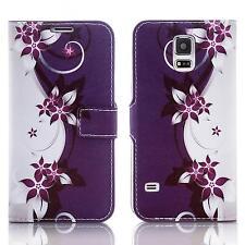 Handy Tasche Schutz hülle Wallet Case Flip Cover Etui für Samsung Galaxy S7 lila