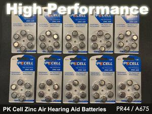 60x PK Cell Zinc Air Hearing Aid Batteries  PR44 / A675 - Aussie Outlet Online